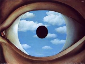 Imagen cuadro Le Faux Miroir de Magritte